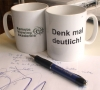 "Remote Viewing Tasse            ""Denk mal deutlich!"""